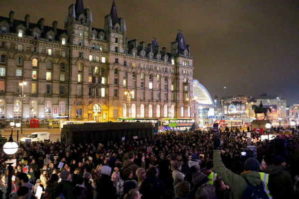 Crowds at St George's Hall