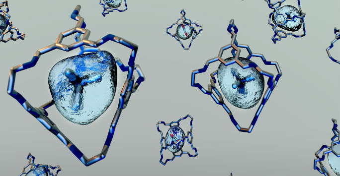 Vector image on porous liquid structure