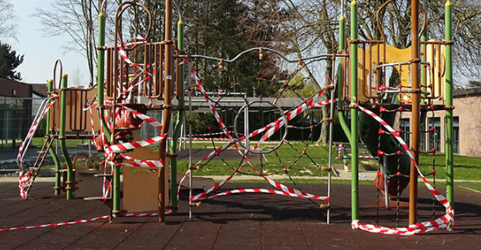 A closed playground