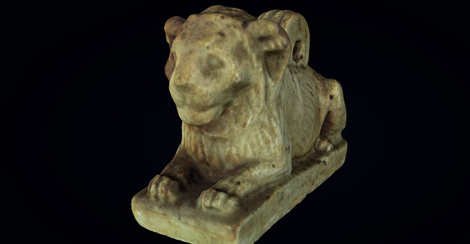 Scan of a lion sculpture