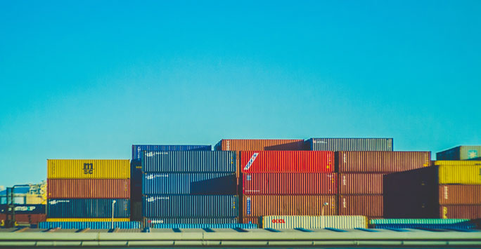 Container Units at a port