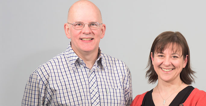 Dr Bruce Pinnington and Dr Jo Meehan