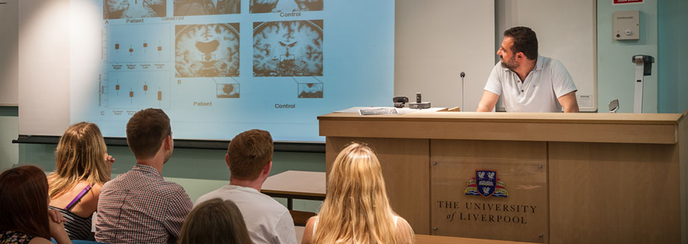Students at a lecture in the School of Psychology