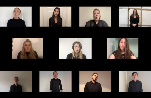 You'll Never Walk Alone performed by the University of Liverpool Chamber Choir