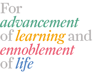 For advancement of learning and ennoblement of life image
