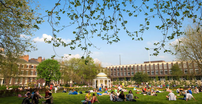 Image of Abercromby Square on the University of Liverpool campus