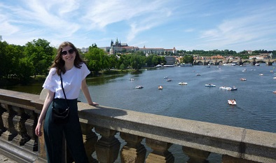 Study Abroad student in Prague