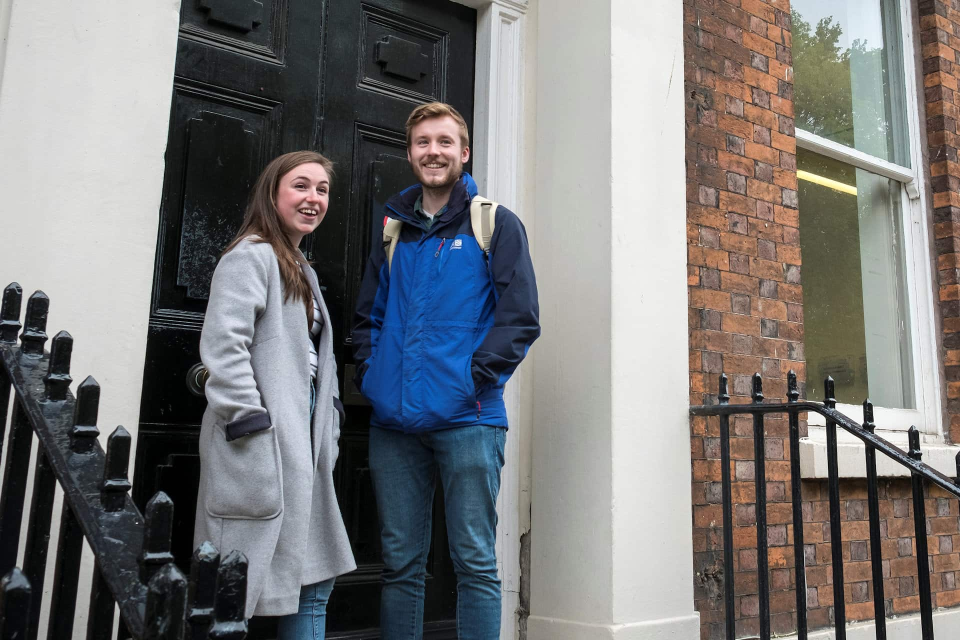 Students stood on abercromby square building doorway