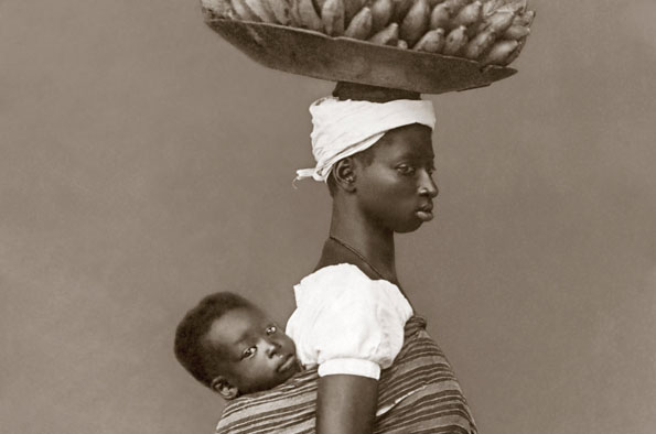 A slave with her child 1884 Salvador