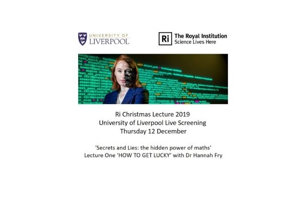 Royal Institution Christmas Lecture 2019 Live Screening. Dr Hannah Fry. Credit: Paul Wilkinson