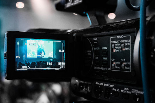 Video camera recording an event