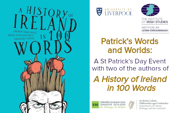 Poster for Patrick's Words and Worlds: A St Patrick's Day Event