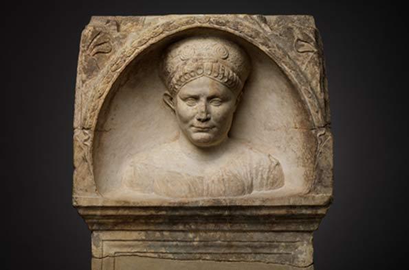 Roman altar of a woman