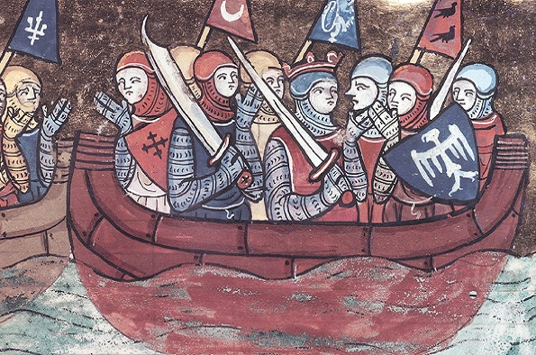 medieval image of the crusades