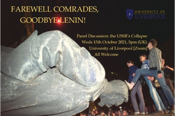 Poster advertising Farewell Comrades, Goodbye Lenin Panel discussion