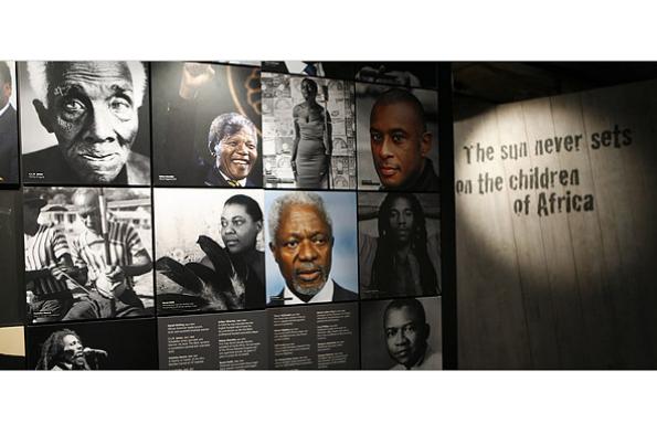 Black Achievers display in the International Slavery Museum